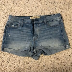 Medium Wash High Rise Hollister Shorts